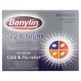 Benylin Day & Night Cold & Flu Relief – 16 Tablets