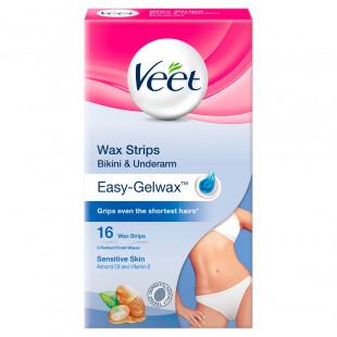 Veet Bikini & Underarm Wax Strips For Sensitive Skin - 16 Pack