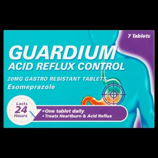 Guardium Esomeprazole Acid Reflux Control 20mg - 7 Tablets