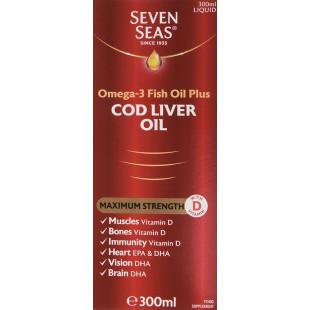 Seven Seas Pure Cod Liver Oil Extra High Strength – 300ml