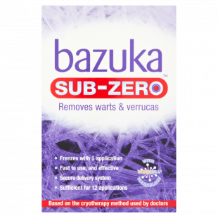 Bazuka Sub-Zero Freeze Verucca & Wart Removal Treatment – 50ml