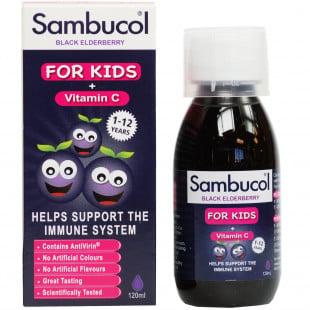 Sambucol Kids Liquid Black Elderberry & Vit C - 120ml