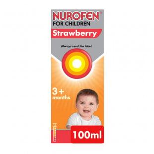 Nurofen For Children Strawberry 100mg/5ml - 100ml