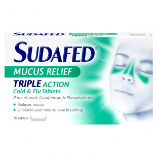 Sudafed Mucus Relief - 16 Tablets