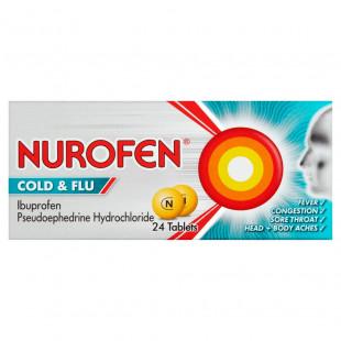 Nurofen Cold & Flu 200mg/5mg - 24 Tablets
