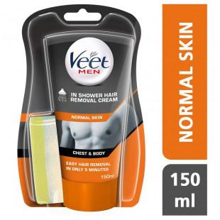 Veet Men In Shower Hair Removal Cream Normal Skin - 150ml