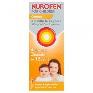 Nurofen For Children Orange 100mg/5ml Oral Suspension - 200ml