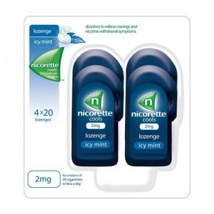 Nicorette Cools Icy Mint 2mg Nicotine 4 Pack – 80 Lozenges