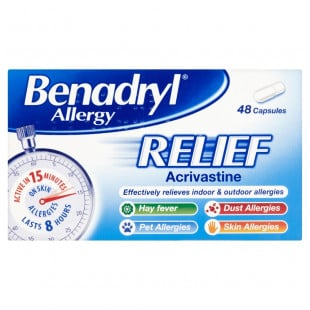 Benadryl Fast and Effective Allergy Relief - 48 Capsules