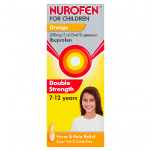 Nurofen for Children Orange 200mg/5ml 7-12 Years - 100ml
