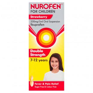Nurofen for Children Strawberry 200mg/5ml Double Strength - 100ml