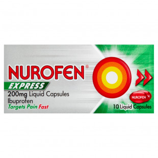 Nurofen Express 200mg - 10 Liquid Capsules