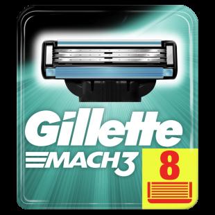 Gillette Mach 3 Razor Blades For Men - 8 Refills