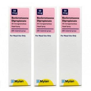 Beclometasone Hayfever Relief Nasal Spray 200 Dose - 3 Pack