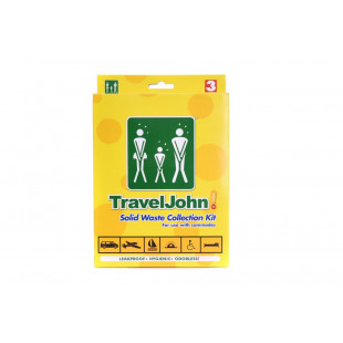 TravelJohn Solid Waste Collection Bags (3 Pack)