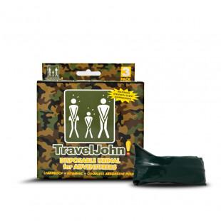 TravelJohn Adventurer Sportsman Resealable Disposable Urinal (3 Pack)