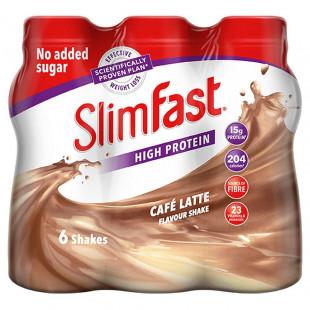 SlimFast Café Latte Flavour Shake - 325ml Pack of 6