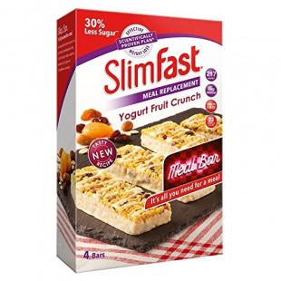 SlimFast Yogurt Fruit Crunch Meal Bars 4x