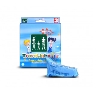TravelJohn Junior Disposable Urinal - 3 Pack