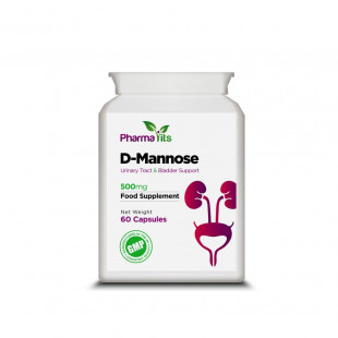 Pharmavits D-Mannose Urinary Tract & Bladder Support - 60 x 500mg Capsules
