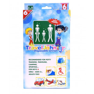 TravelJohn Junior Disposable Urinal - 6 Pack
