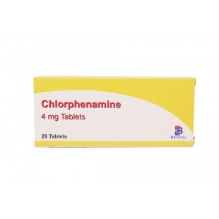 Chlorphenamine (4mg) - Hay Fever & Allergy Relief - 28 Tablets (Brand May Vary)