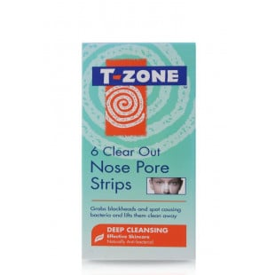 T-Zone 6 Clear Out Nose Pore Strips Blackhead Removal