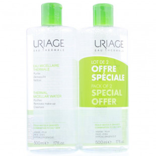 Uriage Thermal Micellar Water Combination To Oily Skin 2 x 500ml