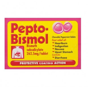 Pepto-Bismol Chewable Peppermint 24 Tablets