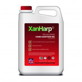 XanHarp Antibacterial 70% Hand Sanitiser Gel - 5L