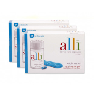 Alli Weight Loss Capsules 60mg 84 Capsules - 3 Pack