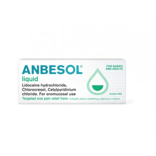 Anbesol Liquid for Mouth Ulcer Relief - 10ml