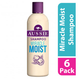 Aussie Miracle Moist Shampoo For Dry Hair 300ml (Case of 6)