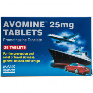 Avomine Travel Sickness 25mg (Promethazine) - 28 Tablets