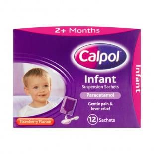 Calpol Infant Suspension - 12 x 5ml Sachets
