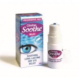 Clinitas Soothe Multi 0.4% Preservative Free Eye Drops - 10ml
