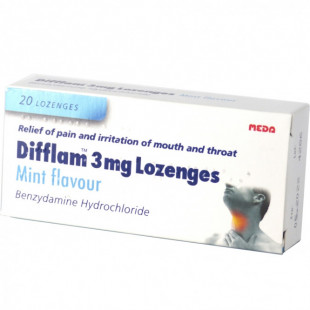 Difflam Mint - 20 Lozenges  3mg
