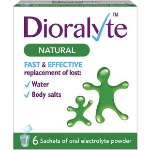 Dioralyte Natural Sachets – 6 Sachets