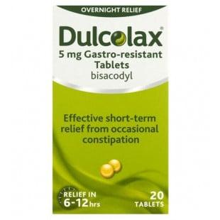 Dulcolax Laxative 5mg - 20 Tablets