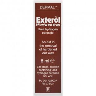 Exterol Ear Drops With Urea Hydrogen Peroxide 5% w/w - 8ml