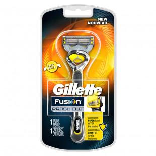 Gillette Fusion Proshield Men's Razor with Flexball Handle and Razor Blade Refill