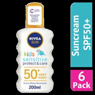 Nivea Sun Kids Pure & Sensitive Sun Spray SPF 50+ - (Case Of 6)