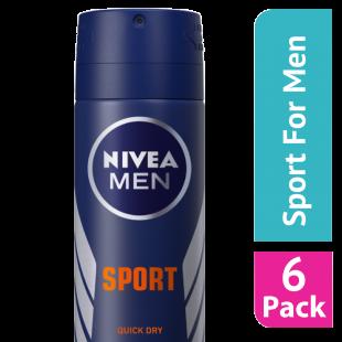 Nivea For Men Sport Antiperspirant Deodorant 150ml - (Case Of 6)