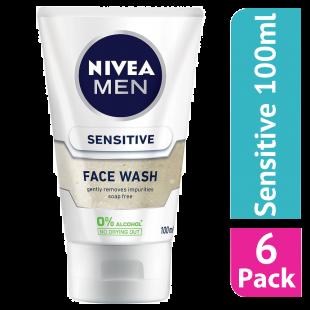Nivea Men Sensitive Face Wash 100ml - (Case Of 6)