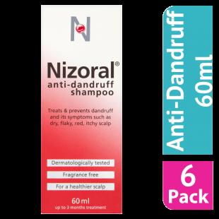 Nizoral Anti-Dandruff Shampoo - 60ml (Case Of 6)