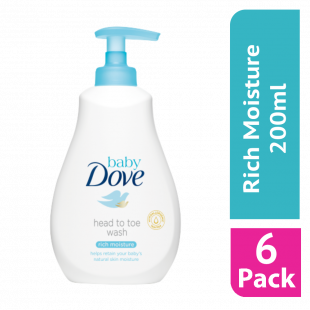 Dove Baby Head to Toe Delicate Rich Moisture Wash 200ml (Case Of 6)