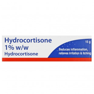 Hydrocortisone 1% w/w Ointment – 15g (Brand May Vary)