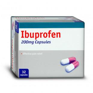 Ibuprofen 200mg - 32 Capsules (Brand May Vary)