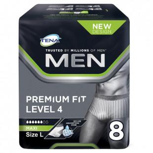Tena Men Premium Fit Level 4 Pants - Large 8 Pack