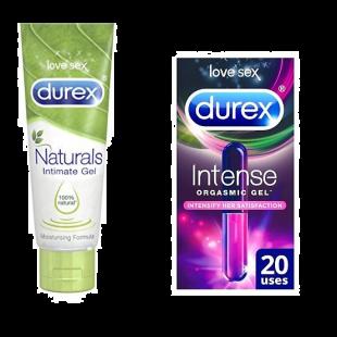 Durex Naturals Pleasure Gel 100ml & Intense 10ml Bundle